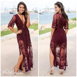 Dresses & Skirts - New Embroidered Lace Maxi Romper